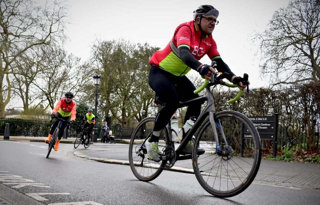 Cyclists in Regents Park